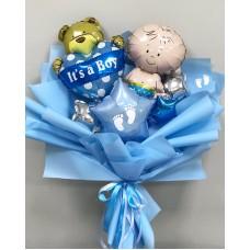 Букет из шаров на рождение ребёнка