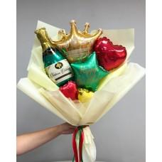 Букет из шаров Шампанское для королевы