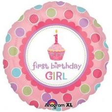 Шар Первый день рождения девочки