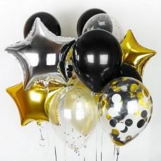 Набор шаров Черно-золотой