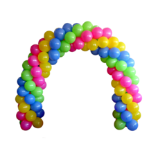 Гирлянда из шаров спираль 4 -х цветная