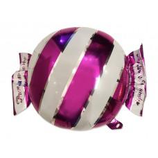 Фольгированный шар конфетка в полоску