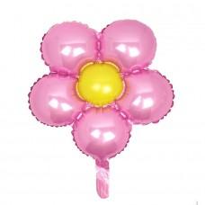 Фольгированный цветок розовый
