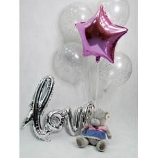 Набор шаров с надписью love