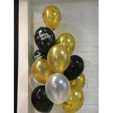 Набор Золотисто чёрных шаров
