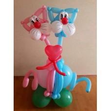 Композиция из шаров Два кота