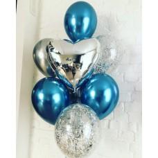 Набор шаров Голубая глазурь