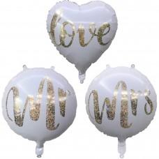 Фольгированный шар Love,Mr,Mrs