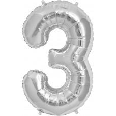 """Фольгированная цифра """"3"""""""