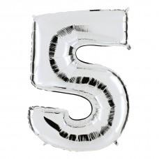 """Фольгированная цифра """"5"""""""