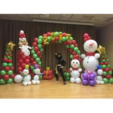 Оформление шарами Новогоднее