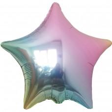 Фольгированная звезда омбре