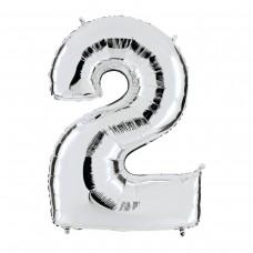 """Фольгированная цифра """"2"""""""
