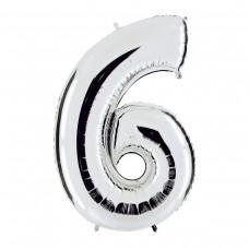"""Фольгированная цифра """"6"""""""