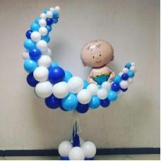 Фигура из шаров Малыш на Месяце