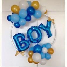 Композиция на обруче из шаров Boy
