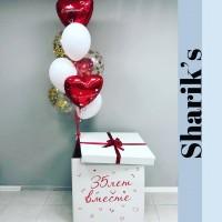 Набор шаров с коробкой для влюбленных