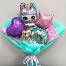 Букет из мини-шаров Кукла LOL